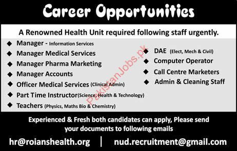 Manager Information Services Jobs in Health Organization