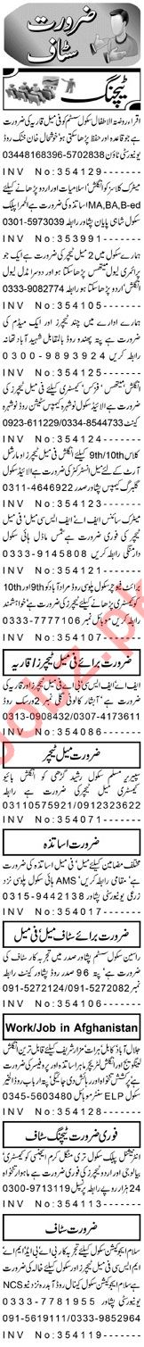 Teaching Staff Jobs 2018 in Peshawar