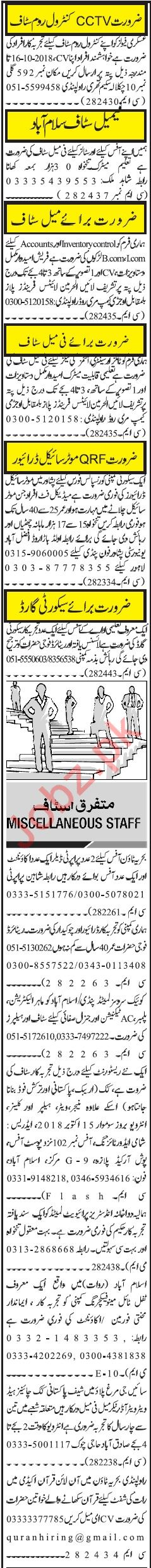Office Staff Jobs Career Opportunity in Rawalpindi