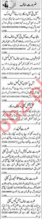 Daily Dunya Newspaper Classified Ads 2018