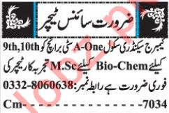 Biology Teacher & Chemistry Teacher Jobs 2018