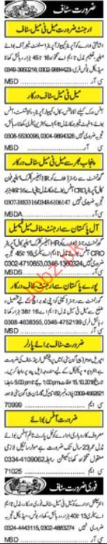Management Jobs 2018 in Lahore