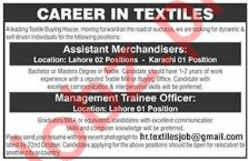 Assistant Merchandisers & Management Trainee Officer Jobs
