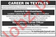 Assistant Merchandisers & Management Trainee Officer Jobs