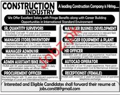 Quantity Surveyor Jobs in Construction Industry