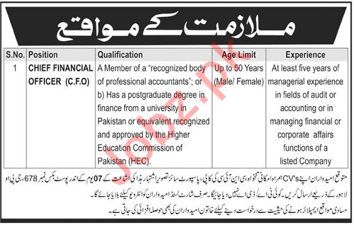 Chief Financial Officer Jobs in Public Sector Organization
