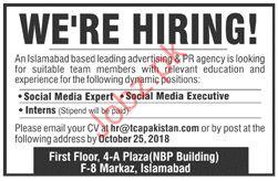Advertising & PR Agency Social Media Expert Jobs 2018
