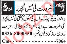 Female Teachers Jobs 2018 in Quetta
