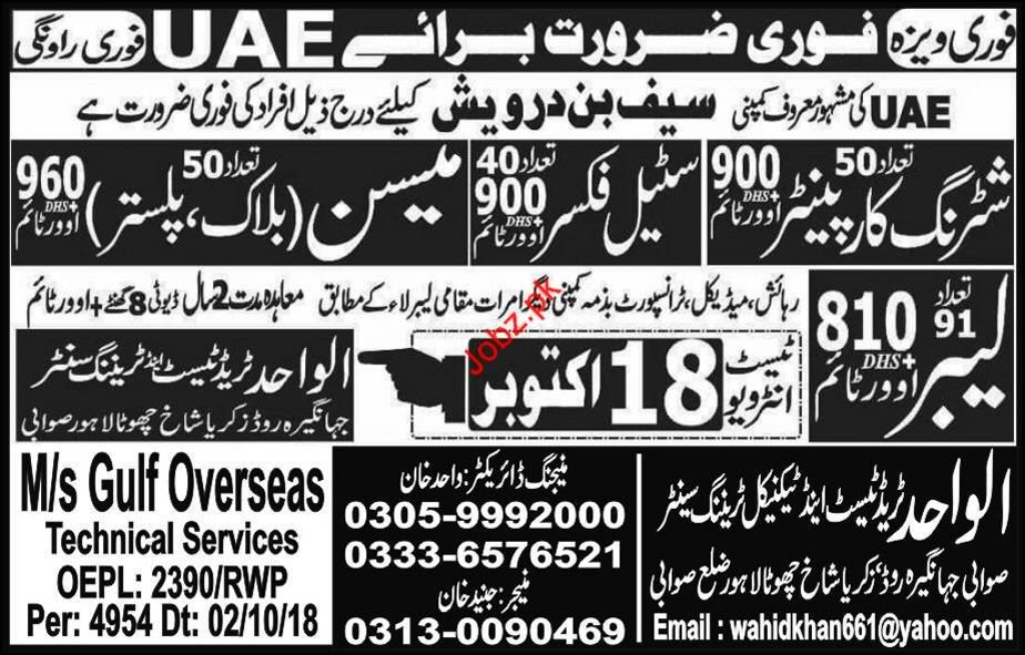 Shuttering Carpenter Jobs in UAE