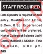 Data Entry Operator Jobs 2018 in Multan