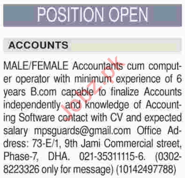 Accountant Jobs Career Opportunity