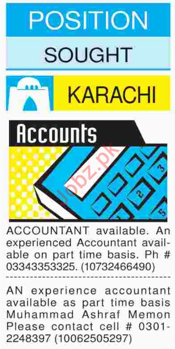 Dawn Sunday Accountant Classified Ads 21/10/2018