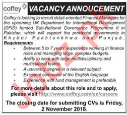 Coffey Engineering Consulting Finance Manager Jobs