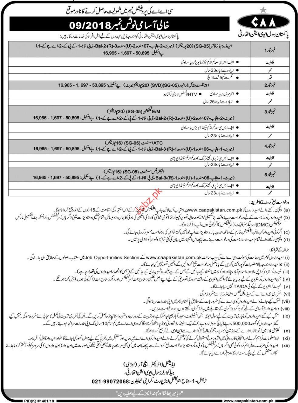 Pakistan Civil Aviation Authority Fire Fighter Jobs 2018