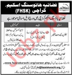 Fazaia Housing Scheme Karachi FHSK Job 2018