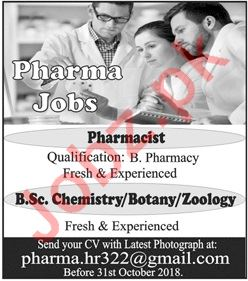 Pharmacists Jobs Opportunities