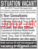 Tour Consultants and Client Service Officer Jobs in IATA