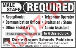 Dar e Arqam Schools Lahore Jobs 2018 for Teachers