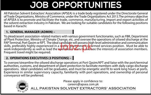 All Pakistan Solvent Extractors Association Jobs