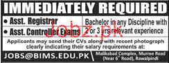 Assistant Registrar and Assistant Controller Exams Jobs