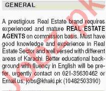Real Estate Agents Jobs 2018 in Karachi