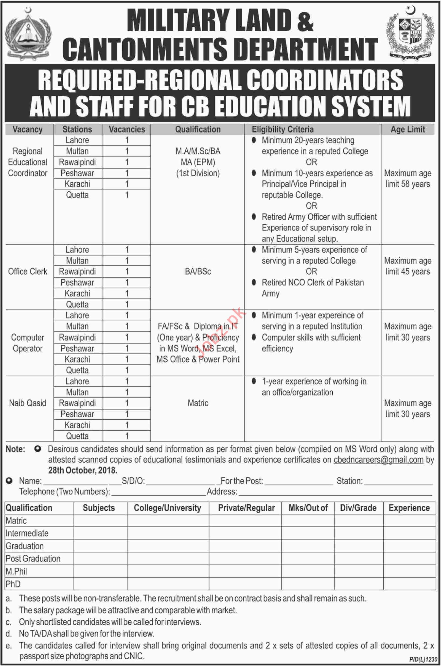 CB Education System Lahore Jobs for Coordinators & Clerk