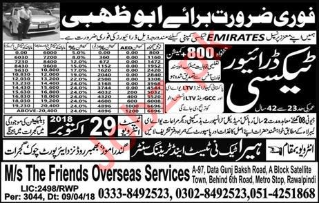 LTV Taxi Driver Jobs 2018 in UAE
