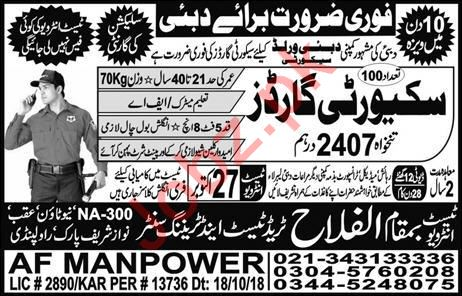 Security Guards Jobs Open in UAE 2018