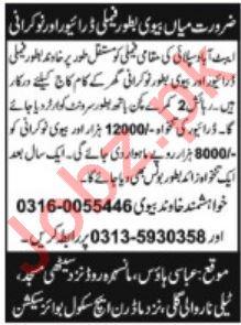 Driver & Servant Jobs For Home in Abbottabad KPK