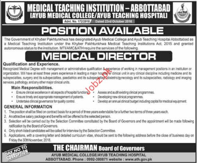 Medical Director Jobs in Medical Teaching Institution MTI