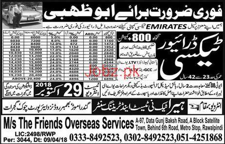 LTV Taxi  Drivers Job in  Emirates Cab UAE