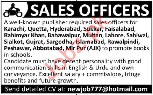 Sales Officers for Book Publishers