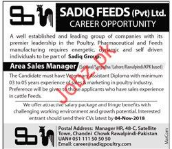 Area Sales Manager Job 2018 in Lahore