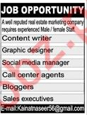 Real Estate Marketing Company Jobs 2018 in Rawalpindi