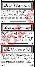 Male & Female Staff Jobs 2018 in Multan