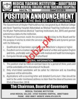 Medical Teaching Institution Secretary Jobs 2018