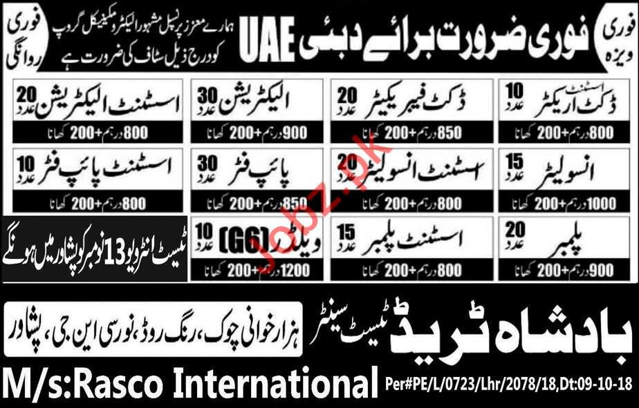 Construction Labors & Helpers Jobs in Dubai UAE