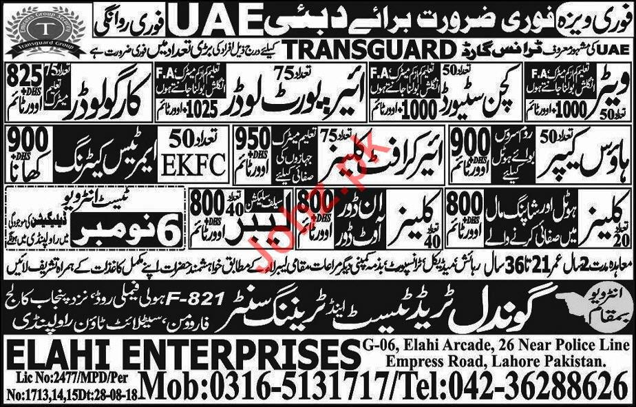 Transguard Group Jobs 2018 in Dubai UAE