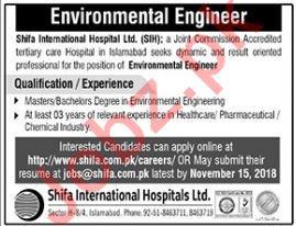 Environmental Engineer Job 2018 in Islamabad Pakistan