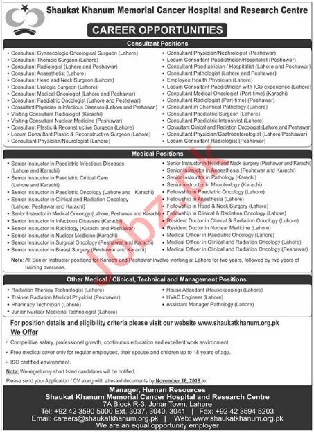 Consultants, Medical Officers, Doctors, Technologists Jobs