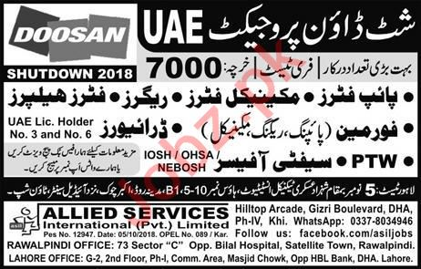Construction Labors Jobs 2018 in UAE