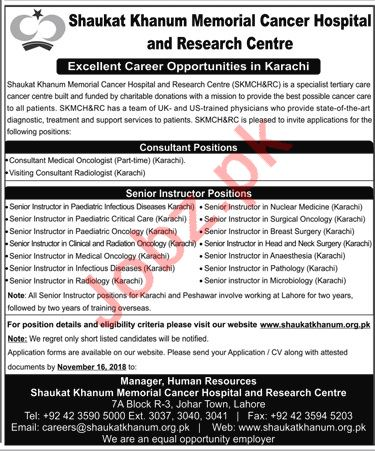 Consultants Medical Oncologist for SKMCH&RC