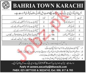 Bahria Town Karachi Jobs 2018