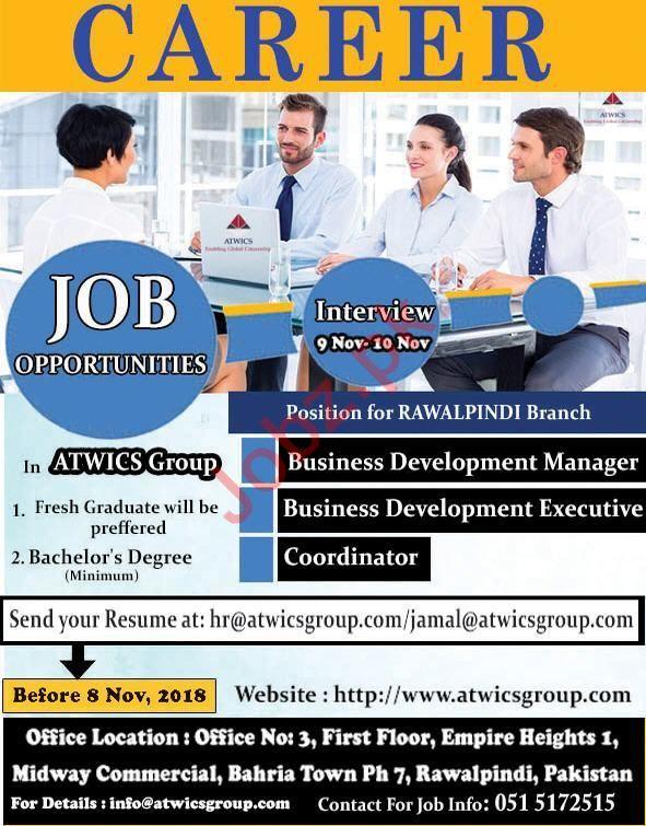 ATWICS Group Jobs 2018 in Rawalpindi