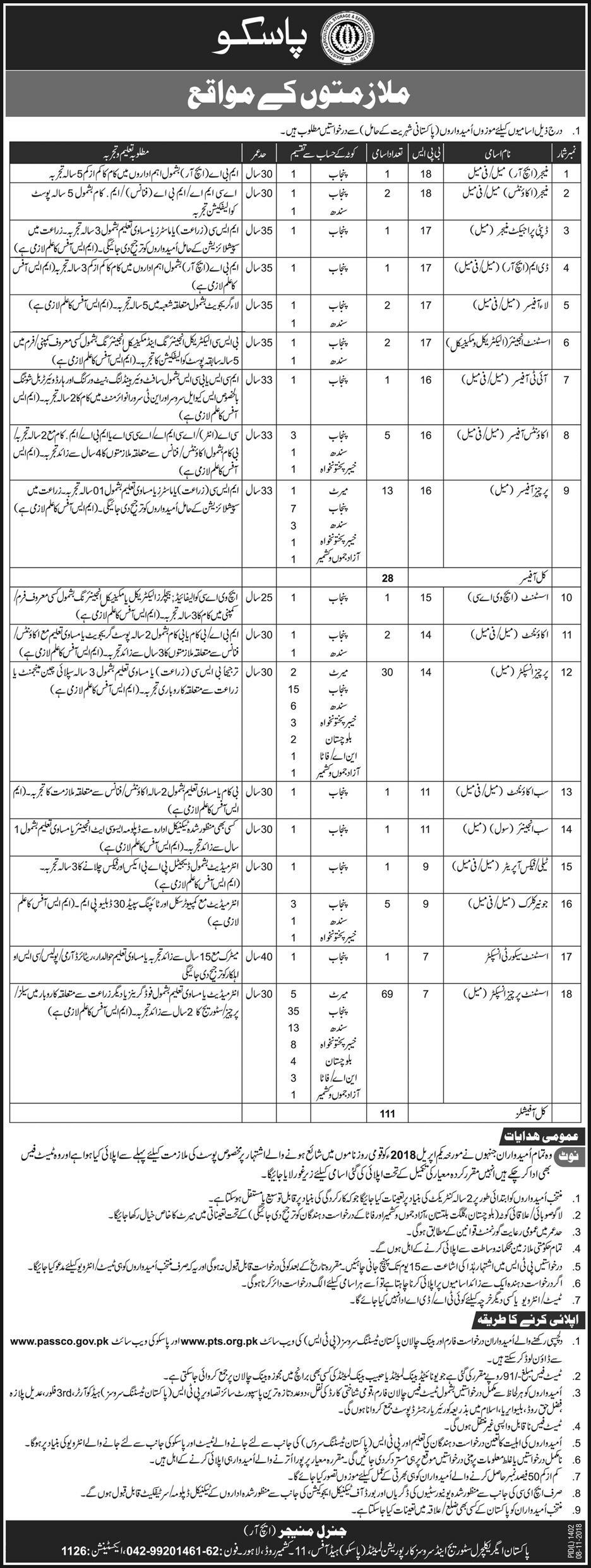 Manager Jobs in PASSCO