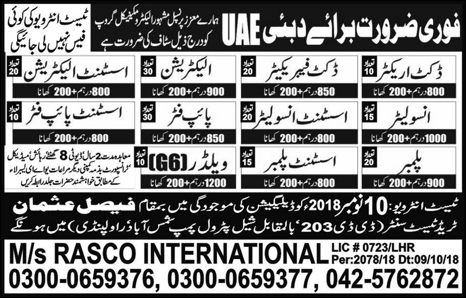 Duct Erector Duct Fabricator & Electrician Jobs 2018