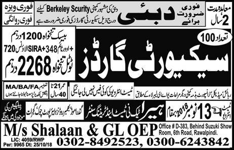 Security Guard Jobs in Dubai