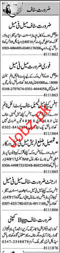 Daily Dunya Miscellaneous Staff Jobs 2018 in Lahore