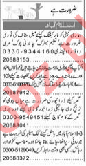 Express Newspaper Classified Ads 2018 For Islamabad