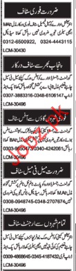Miscellaneous Staff Jobs 2018 in Multan